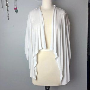 Lane Bryant 18/20 High/Low Cardigan Sweater White